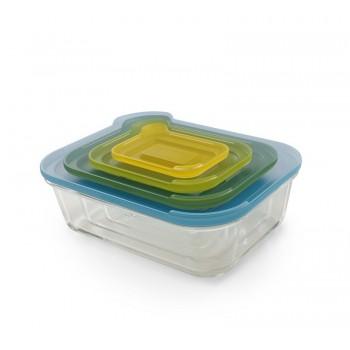JJ- Zest. 4szklanych pojemników Nest Glass Storage