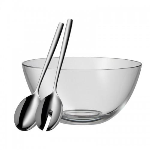 WMF - Szklana miska z łyżkami do sałaty