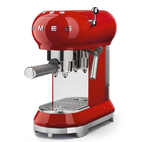 Smeg - 50's Style - Ekspres kolbowy, czerwony ECF01RDEU