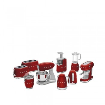 Smeg - 50's Style - Ekspres kolbowy, czerwony