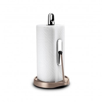 Simplehuman - Stojak na ręcznik papierowy Tension Arm, różowe złoto