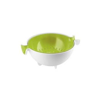 Guzzini - Durszlak z miską zielony