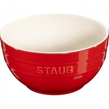Staub - Serving - miska ceramiczna czerwona, 17cm.