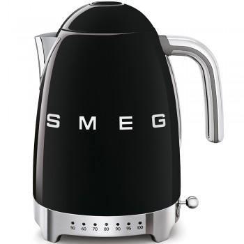 SMEG - Czajnik elektryczny z regulacją temperatury 1,7 l. , czarny KLF04BLEU