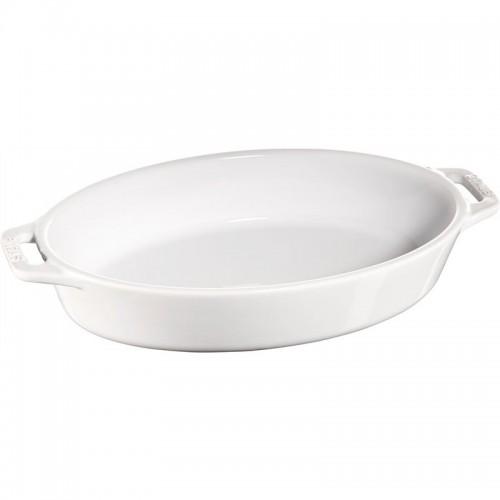Staub - Cooking - owalny półmisek ceramiczny biały 4l.