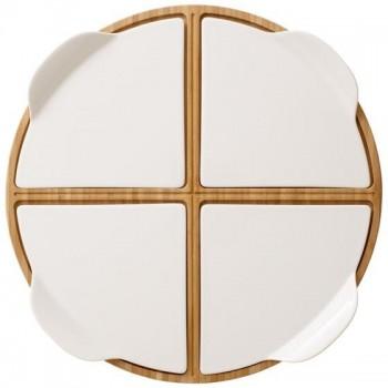 Villeroy & Boch - Taca na pizzę z talerzami dla 4 osób - Pizza Passion