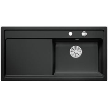 BLANCO ZENAR XL 6 S Ceramika PuraPlus Czarny prawa, korek auto., InFino