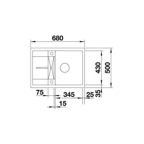 Blanco - Zlewozmywak podwieszany jednokomorowy 68x50cm - 519576 - Wyprzedaż ekspozycji