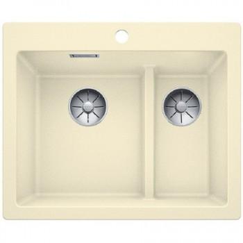 Blanco - Zlewozmywak granitowy dwukomorowy wpuszczany w blat 61,5x51cm - 521694 - Wyprzedaż ekspozycji