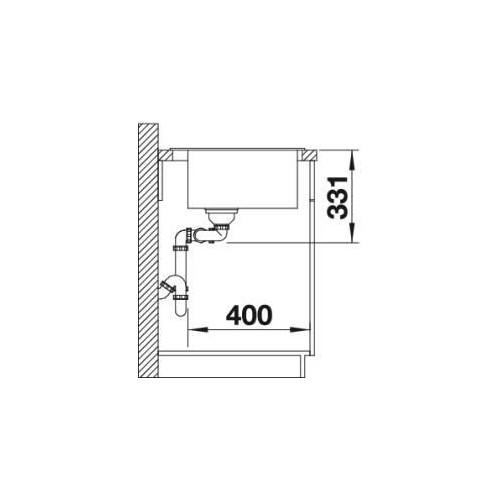 Blanco - Zlewozmywak granitowy dwukomorowy wpuszczany w blat 61,5x51cm - 521694