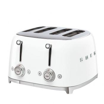 Smeg - Toster na 4 kromki biały TSF03WHEU