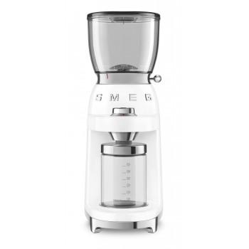 SMEG - Elektryczny młynek do kawy, biały CGF01WHEU