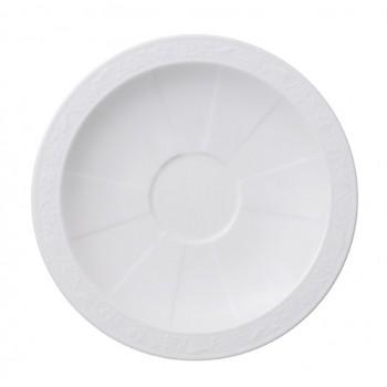 Villeroy & Boch - White Pearl - Spodek pod filiżankę do kawy / herbaty 16 cm