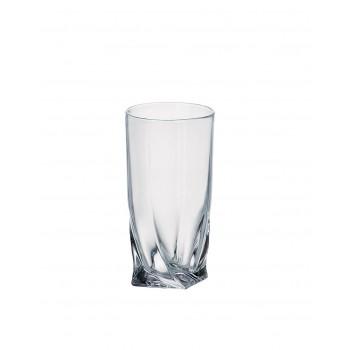 Zestaw 6-ciu szklanek BOHEMIA - QUADRO 350ml