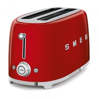 Smeg - Toster na 4 kromki, czerwony TSF02RDEU