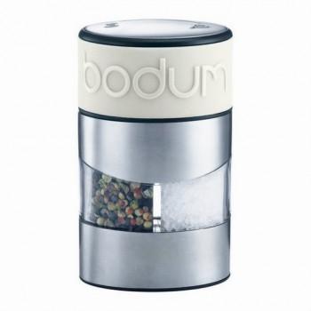 BODUM - Młynek 2w1 do soli i pieprzu, mleczny,Twin