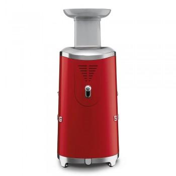 Smeg - 50's Style - Wyciskarka wolnoobrotowa, czerwona