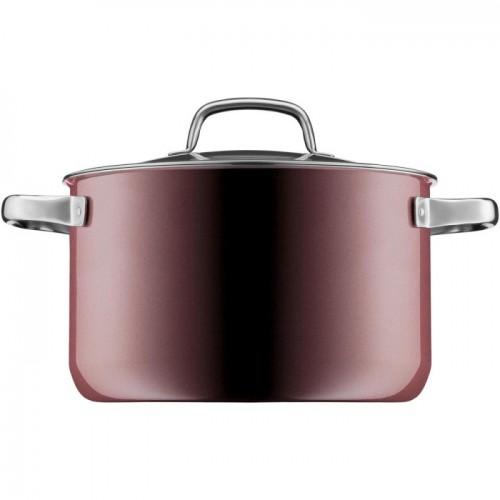 WMF-Garnek wysoki 24cm, różowy kwarc, Fusiontec