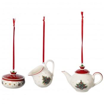Villeroy & Boch - 3 zawieszki świąteczny serwis kawowy - Toy's Delight Decoration