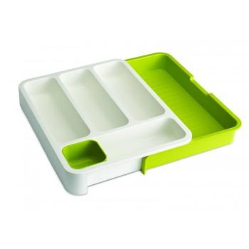 JJ - Organizer do szuflad na sztućce,biało-zielony