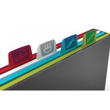 JJ - Zestaw  4-ech desek INDEX NEW,  duży grafit